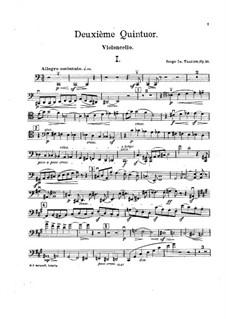 Streichquintett Nr.2 in C-Dur, Op.16: Cellostimme by Sergei Taneyev
