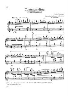 Spanisches Liederspiel, Op.74: Nr.10 Der Contrabandiste, für Klavier by Robert Schumann