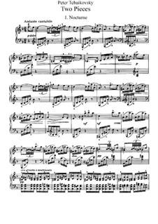 Zwei Stücke für Klavier, TH 132 Op.10: Vollsammlung by Pjotr Tschaikowski