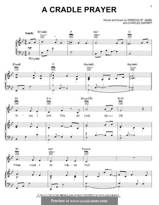 A Cradle Prayer: Für Stimme und Klavier (oder Gitarre) by Rebecca St. James, Charles Garrett