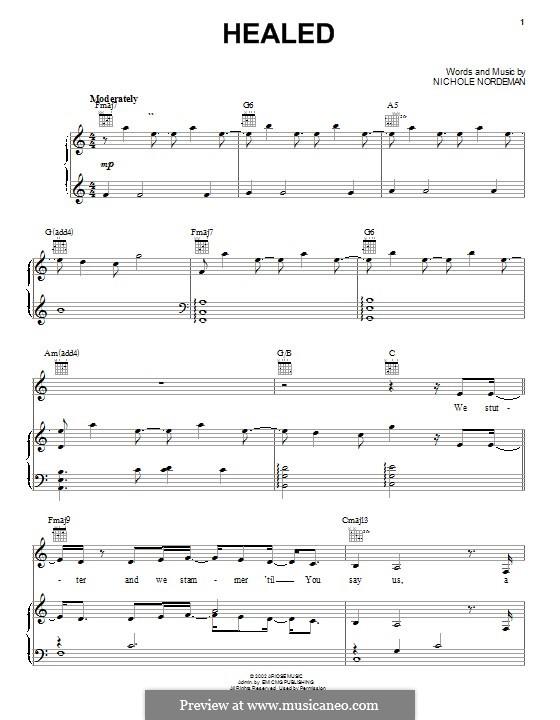 Healed: Für Stimme und Klavier (oder Gitarre) by Nichole Nordeman