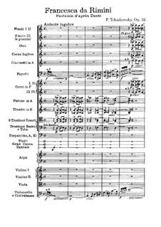 Francesca da Rimini, TH 46 Op.32: Vollpartitur by Pjotr Tschaikowski