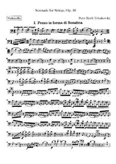 Serenade für Streichorchester, TH 48 Op.48: Cellosstimme by Pjotr Tschaikowski