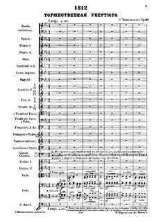 1812. Festliche Ouvertüre, TH 49 Op.49: Vollpartitur by Pjotr Tschaikowski