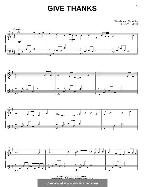 Give Thanks: Für Klavier by Henry Smith