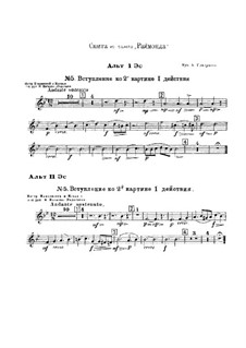 Raimonda, Op.57: Suite. Introduction zum Szene II, Akt I – Stimmen by Alexander Glazunov