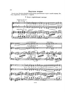 Mazepa, TH 7: Akt I, Nr.7-8 – Klavierauszug mit Singstimmen by Pjotr Tschaikowski