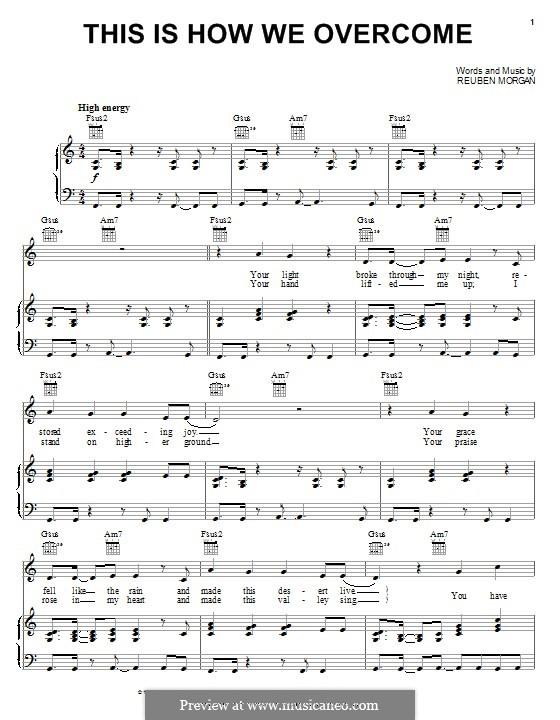 This Is How We Overcome: Für Stimme und Klavier (oder Gitarre) by Reuben Morgan