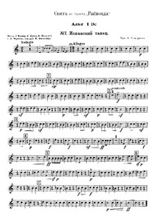 Raimonda, Op.57: Suite. Nr.7 Spanischer Tanz – Stimmen by Alexander Glazunov