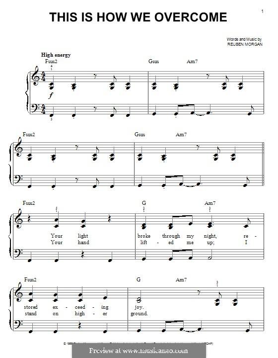 This Is How We Overcome: Für Klavier by Reuben Morgan