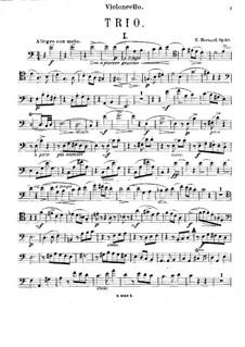 Klaviertrio in a-moll, Op.30: Cellostimme by Émile Bernard