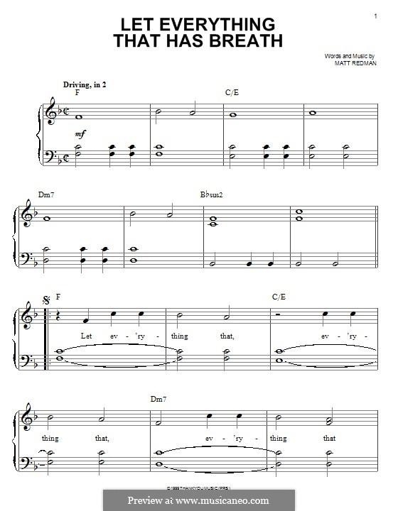 Let Everything That Has Breath: Für Klavier by Matt Redman