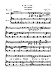 Pastorale: Für tiefe Stimme by Georges Bizet