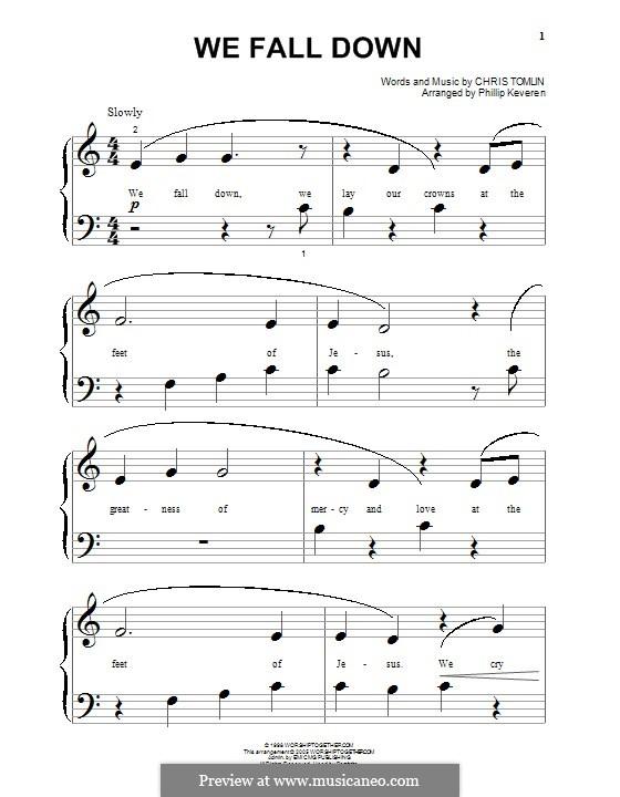 We Fall Down: Für Klavier by Chris Tomlin