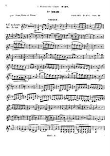Klaviertrio Nr.3 in G-dur, Op.24: Violinstimme by Adolphe Blanc