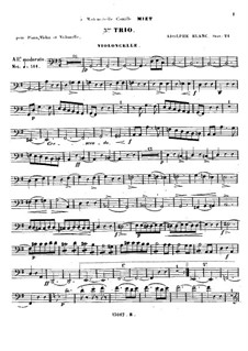 Klaviertrio Nr.3 in G-dur, Op.24: Cellostimme by Adolphe Blanc