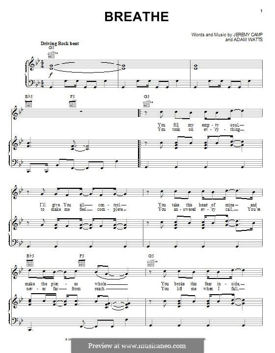 Breathe: Für Stimme und Klavier (oder Gitarre) by Adam Watts, Jeremy Camp
