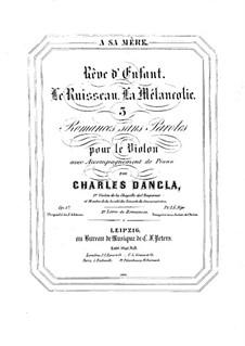 Drei Romanzen ohne Worte, Op.57: Drei Romanzen ohne Worte by Charles Dancla