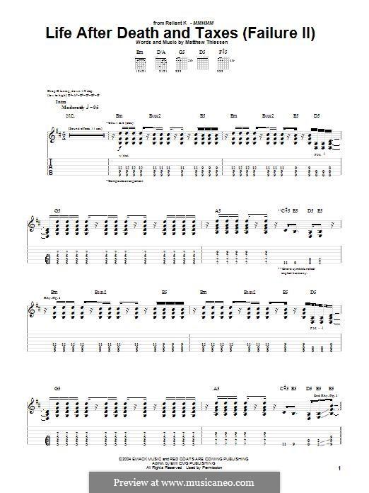 Life After Death and Taxes (Failure II) (Relient K): Für Gitarre mit Tabulatur by Matt Thiessen