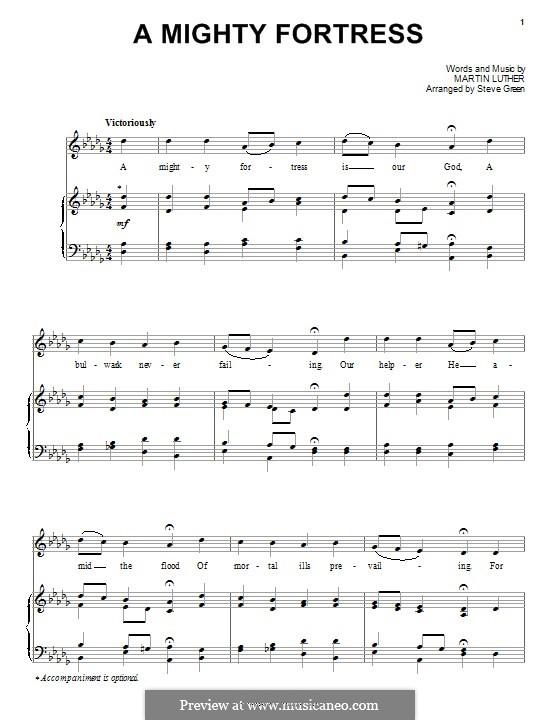 Ein feste Burg ist unser Gott: Für Stimme und Klavier (oder Gitarre) by Martin Luther