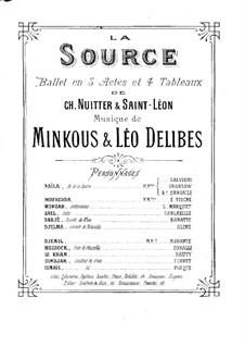 La source, ou Naïla (The Spring): Klavierauszug by Léo Delibes