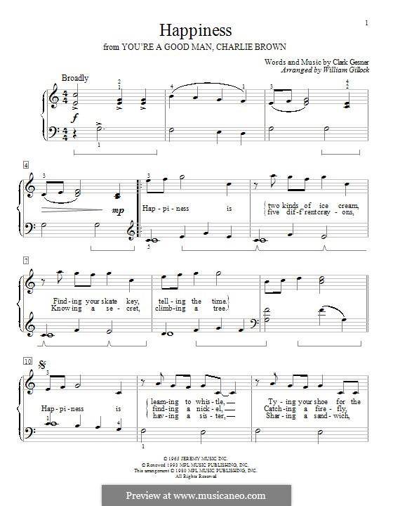 Happiness: Für Klavier by Clark Gesner