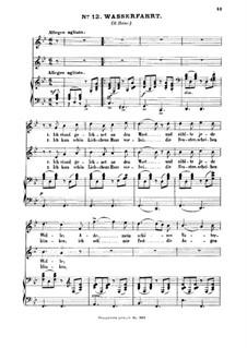 Drei zweistimmige Volkslieder, WoO 11: Nr.3 Wasserfahrt by Felix Mendelssohn-Bartholdy