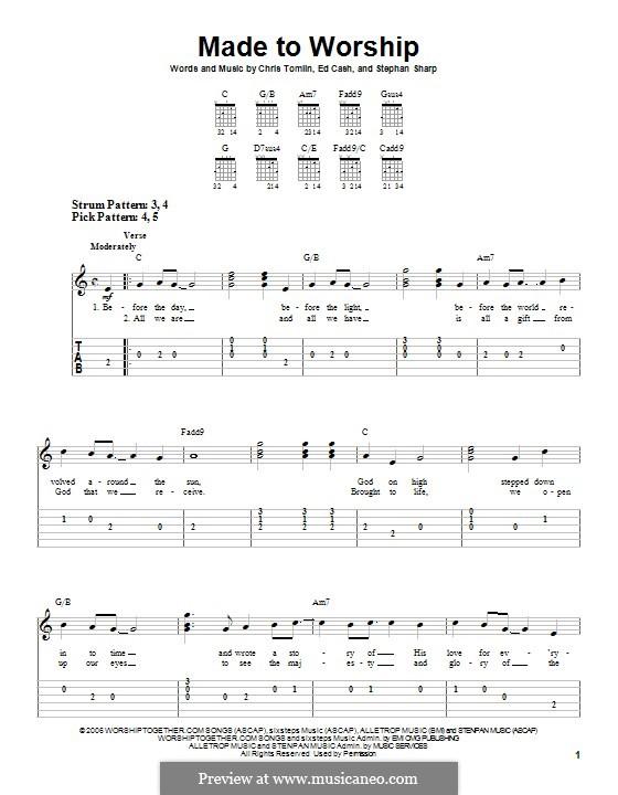 Made to Worship: Für Gitarre mit Tabulatur by Chris Tomlin, Ed Cash, Stephan Sharp