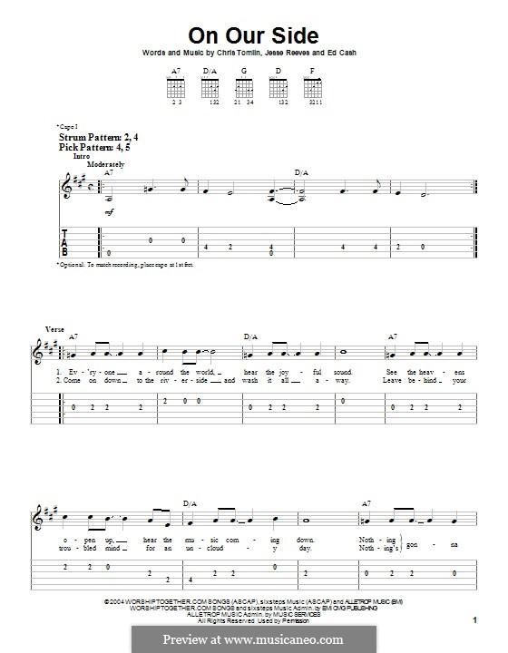 On Our Side: Für Gitarre mit Tabulatur by Chris Tomlin, Ed Cash, Jesse Reeves