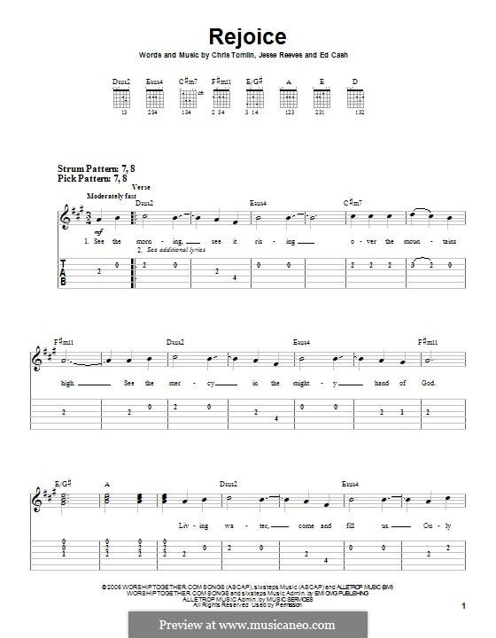 Rejoice: Für Gitarre mit Tabulatur by Chris Tomlin, Ed Cash, Jesse Reeves