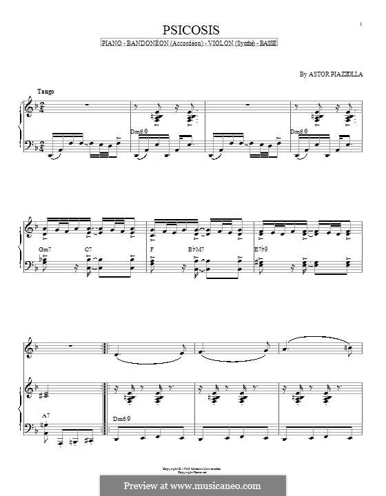 Psicosis: Für Klavier by Astor Piazzolla