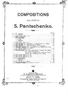 Drei Stücke, Op.56: Nr.1 Improvisation by Semjon Pantschenko