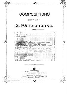 Drei Stücke, Op.56: Nr.2 Nocturne by Semjon Pantschenko