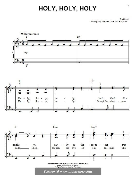 Holy, Holy: Für Klavier by folklore