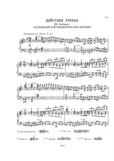 Mazepa, TH 7: Akt III, Nr.15-19 – Klavierauszug mit Singstimmen by Pjotr Tschaikowski