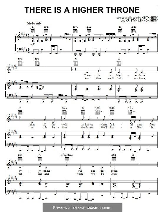 There is a Higher Throne: Für Stimme und Klavier (oder Gitarre) by Keith Getty, Kristyn Getty