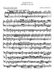 Vollständiger Sinfonie: Cello- und Kontrabassstimmen by Ludwig van Beethoven
