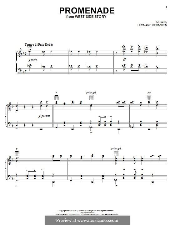 Promenade from The Dance at the Gym: Für Klavier by Leonard Bernstein