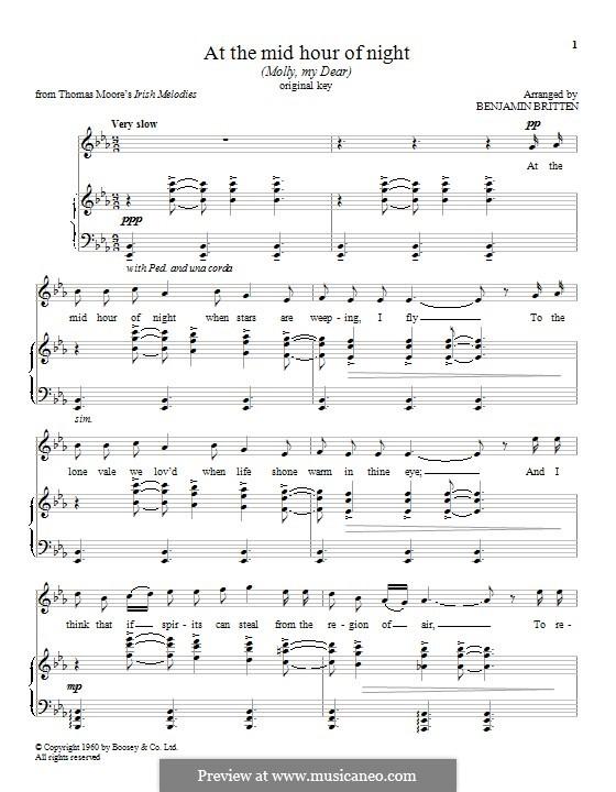 At the Mid Hour of Night: Für Stimme und Klavier by folklore