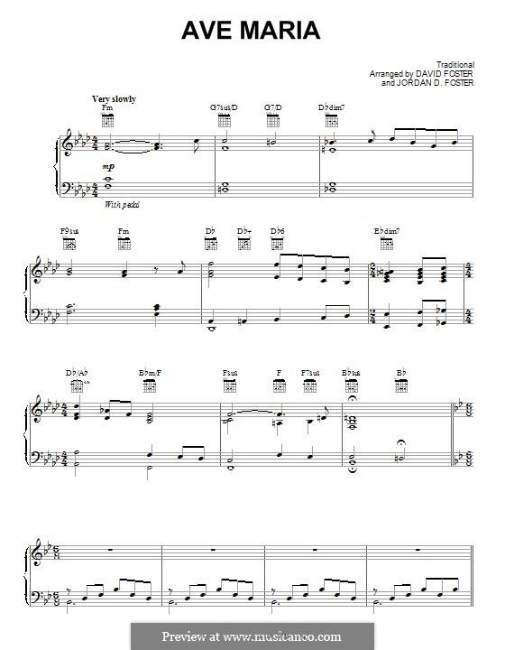Ave Maria: Für Stimme und Klavier (oder Gitarre) by folklore