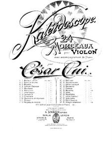 Nr.2 Dans la brume: Partitur, Solostimme by César Cui