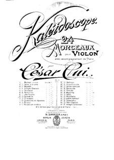 Nr.8 Kantabile: Partitur, Solostimme by César Cui
