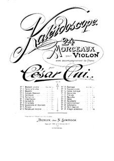 Nr.13 Badinage: Partitur, Solostimme by César Cui