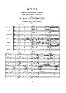 Septett für Bläser und Streicher, Op.20: Vollpartitur by Ludwig van Beethoven