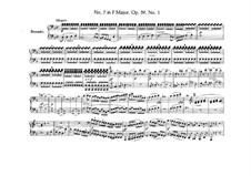 Streichquartett Nr.7 in F-Dur, Op.59 No.1: Version für Klavier, vierhändig by Ludwig van Beethoven