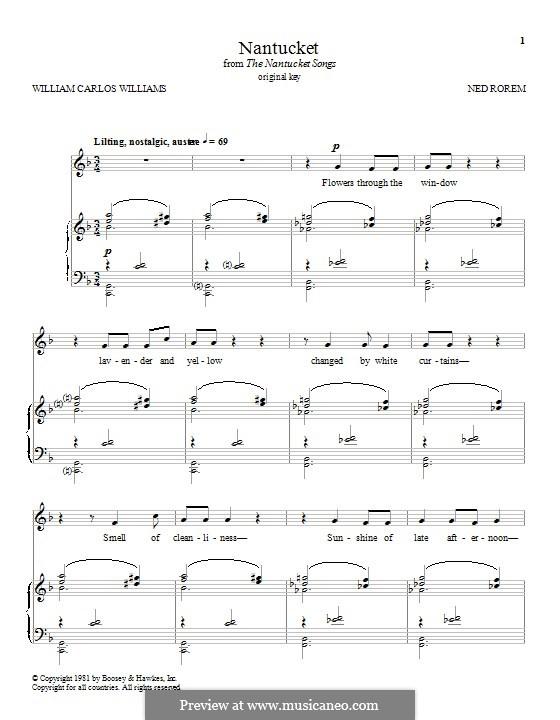 Nantucket: Für Stimme und Klavier by Ned Rorem
