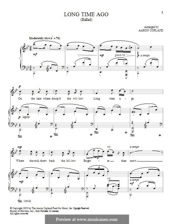 Long Time Ago: Für Stimme und Klavier by folklore