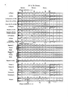 Te Deum, H.118 Op.22: Vollpartitur by Hector Berlioz