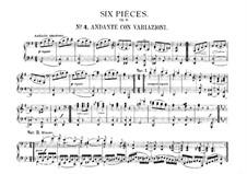 Sechs leichte Stücke für Klavier, vierhändig, J.9–14 Op.3: Nr.4 Andante mit Variationen by Carl Maria von Weber