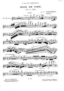 Grand air varié (Grosse Arie mit Variationen), Op.3: Solostimme by Jules Demersseman